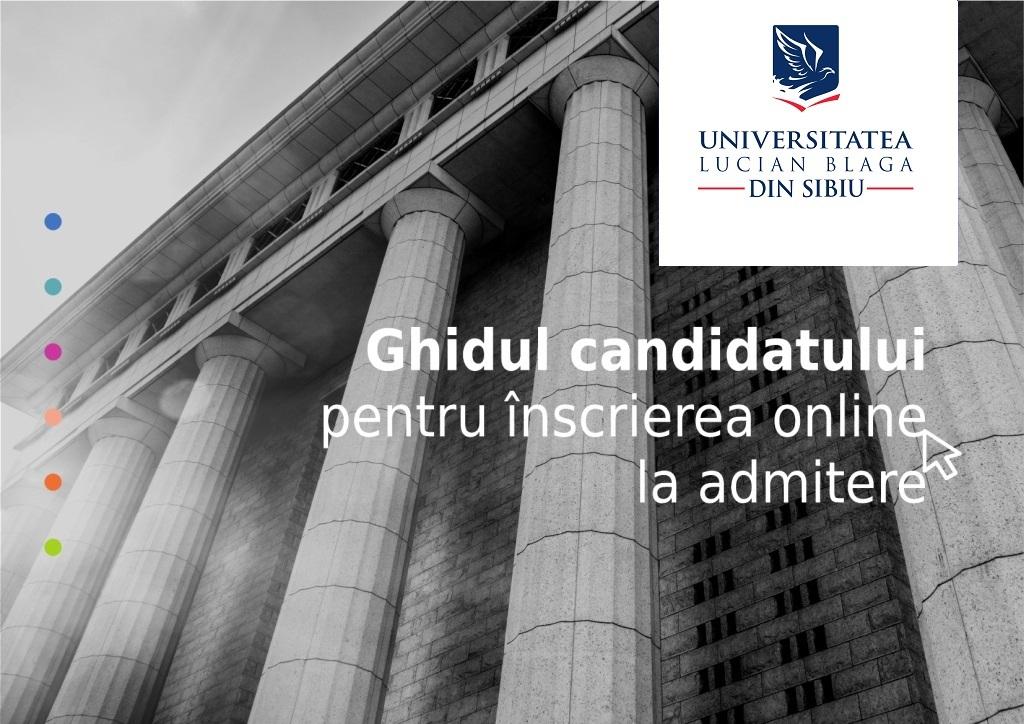 Ghid admitere online ULBS